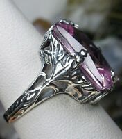 10ct *Pink Topaz* Sterling Silver 1930s Art Deco Filigree Ring {Made To Order}