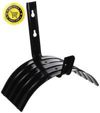 Steel Hose Holder Hanger Hook Water Hose Reel Carrier Lawn Garden Outdoor Black