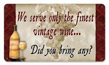 Wine Decor Bottle Metal Sign Kitchen Den Gameroom Pub Bar pts595
