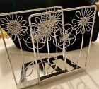 Silver+Flower+Metal+Bookend+Set.+Pretty+Light+Decor+.
