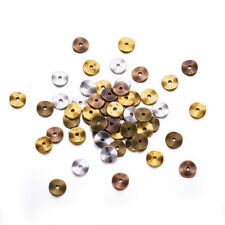 420pcs/200g Tibetan Alloy Metal Beads Flat Disc Waved Loose Spacer Smooth 10x1mm