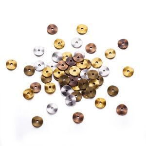 420pcs/200g Tibetan Alloy Metal Beads Flat Disc Waved Loose Spacer Smooth 10x1mm