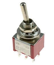 On/On Mini Interruptor De Palanca Coche Tablero Tablero Interruptor DPDT 12 V