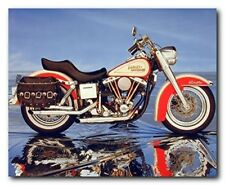 Vintage Motorcycle Harley Davidson Electra Glide Wall Decor Art Print (16x20)