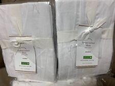 2 Pottery Barn HADLEY RUCHED Standard Sham WHITE Christmas