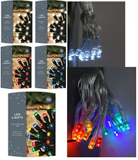 20 LED Christmas Battery Light Warm White,Ice,Blue,Red,Multi Indoor Fairy Light