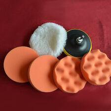 Polierschwamm Politur Wachs pad kit für Poliermaschine Polierset Auto Glas  New