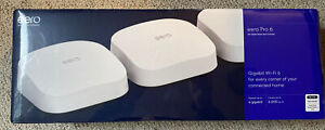 eero Pro 6 AX4200 Tri-Band Wi-Fi Mesh System - White 3 Pack New - Ships Free