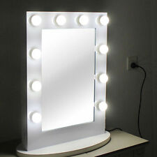 White Vanity Lighted Hollywood Makeup Mirror With Dimmer Stage Beauty SUPERSTAR