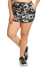 Plus Size Women Lady Summer Stretchy Fit Caual Shorts Printed Hot Pants Shots
