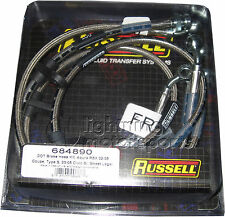 Russell 684890 Stainless Steel Brake Lines 02-06 RSX 02-05 Civic Si