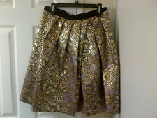 MARNI for H&M Gold Jacquard Weave Flared Skirt - Size 10 - NWT