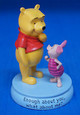 Winnie the Pooh & Piglet Figurine Enough about you, what about me? Disney 17722