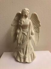 "White Ceramic Porcelain 5"" Angel Figurine New"
