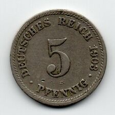 Germany - Duitsland - 5 Pfennig 1903 D