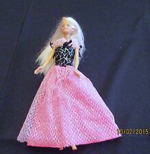 Mattel Barbie Doll 1999 in Pink Evening Gown