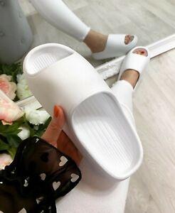 LADIES WOMENS ULTRA SOFT SUMMER SLIP ON MULE SLIDES SLIDERS SANDALS SLIPPERS UK