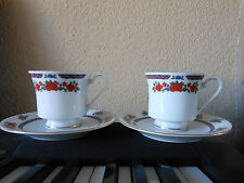 Set 2 Cups+Saucers Old Imari style, Regent Collection Crown Ming Yung Shen China