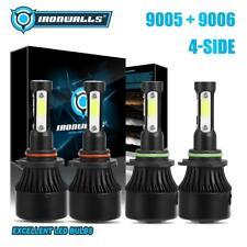 4-Side 9005+9006 LED Headlight Hi&Lo Bulbs for Honda Civic 04-13 Accord 95-2007