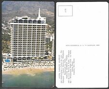 Old Mexico Postcard - Acapulco - Hotel Paraiso Marriot and Beach
