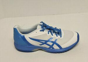 Asics Gel Court Speed Tennis Shoes, White/Blue, Women's 12 M