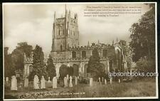 Postcard of St. Mary's Fairford Church and Graveyard, Gloucestershire, England
