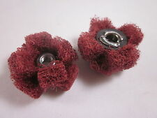 "Porting & Polishing Cross Buffs 2 x Standard Abrasives Very Fine 1"" x 3/8"" 8-32"