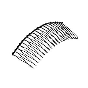 Plain Wire Tooth Metal Side Hair Comb Clip Slide Grip Black or Silver