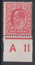 SG 282 1d Pale Rose Carmine ( Double Gum ) M7 (-)  A 11 Control L.M.Mint .