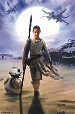 Star Wars The Force Awakens - Rey Poster Print (22 x 34) Wall Art Home Decor