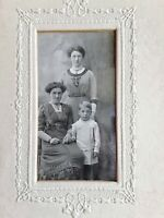 Vintage Old 1910's Photo of Women and a Little Boy from Brighton England Fashion