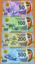 SET Mauritania, 50-100-200-500 Ouguiya, 2017, P-New, UNC > POLYMER, Revalued