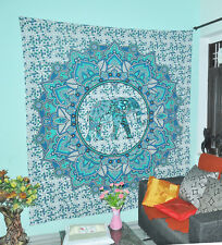 Elephant Ombre Tapestries Wall Hanging Bedspread Dorm Indian Designs Tapestry