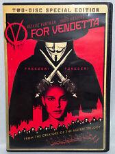 V for Vendetta (2-disc DVD Set, 2006) Widescreen, Natalie Portman, Hugo Weaving
