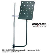 PROEL RSM225 Leggio aggiuntivo per asta microfonica compatibile con tutte aste