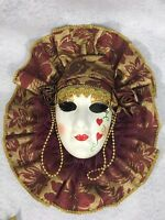 Vintage Mardi Gras Porcelain Mask New Orleans Wall Art