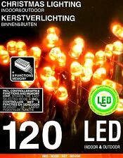 Lichterkette 120 LED rot Weihnachtsbaum Beleuchtung Lichtschlauch 8 Funktionen