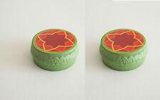 PLAYMOBIL (U1237) CIRQUE - Lot 2 Podiums Verts Motif Orange Dompteur Fauves 4233