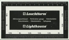 LIGHTHOUSE Plastic PERFORATION GAUGE