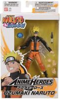Bandai Naruto Shippuden Anime Heroes Series 6in Uzumaki Naruto Action Figure NEW