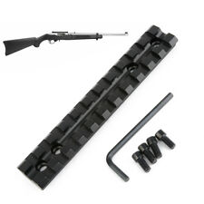 New Ruger Scope Base Rail Mount Black Low Profile Weaver Rail For Rifles Gun