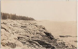Maine Me Real Photo RPPC Postcard 1940 PORT CLYDE Shore at LAND'S END