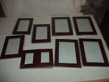 wooden picture frames, Table top, or Hang on Wall, walnut color 9 in lot