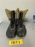 Nike womens boots 314389-071 size 9 Black and Gold