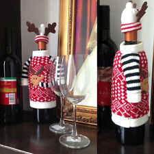 2pcs Santa Wine Bottle Cover Christmas Bottle Cap Party Gift  Xmas Table Decor