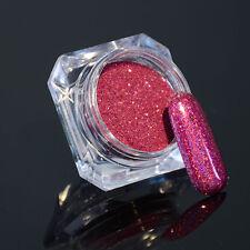 Nail Glitter Powder Holographic Pigment Laser Dust Nail Art Decor Peachblow Tips