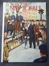 Vintage New Yorker Magazine (COVER ONLY) April 13 1940 -Constantine Alajalov art