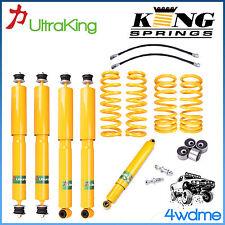 """Toyota Landcruiser 80 105 4WD Shock + KING Springs + Damper + Castor 2"""" Lift Kit"""