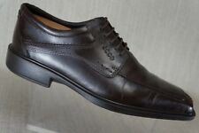 Ecco Men's oxford bicycle split toe brown lace up  size EUR 41 / US 10 /10.5