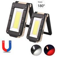 XPE COB LED Flashlight Torch Work Light Magnetic Folding Lamp USB Rechargeable B